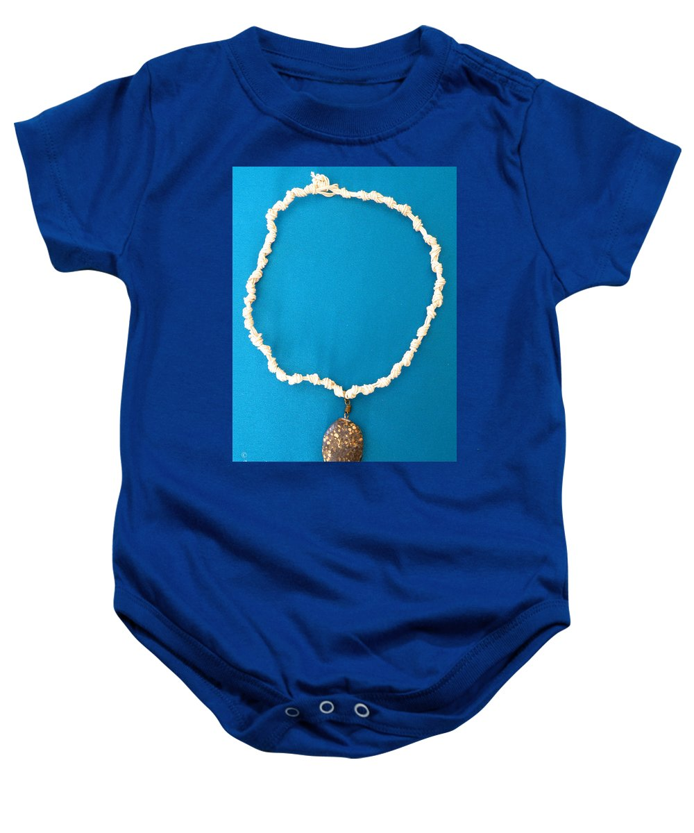 Augusta Stylianou Baby Onesie featuring the jewelry Aphrodite Urania Necklace by Augusta Stylianou