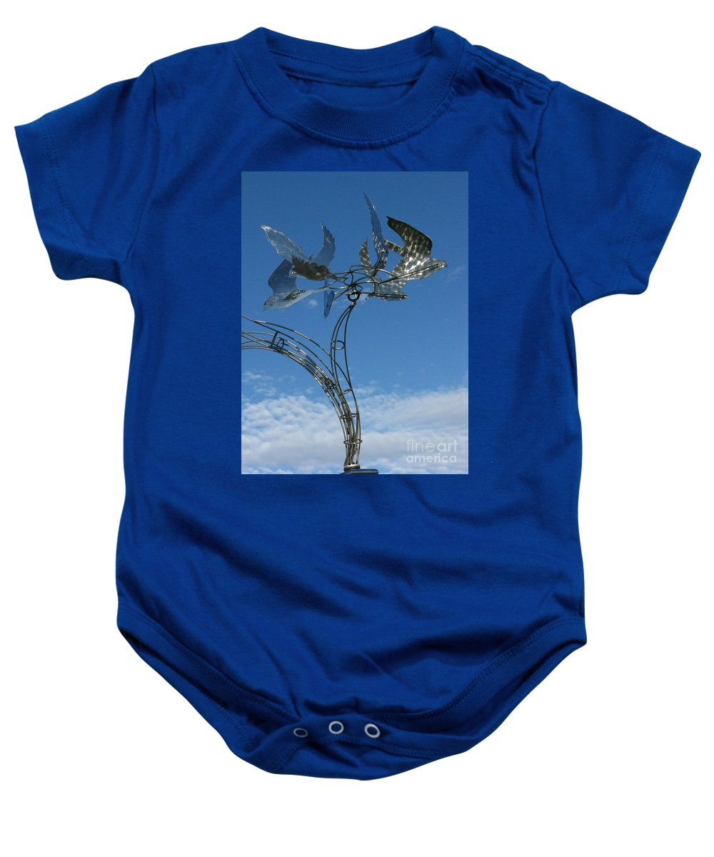 Whirlybird Baby Onesie featuring the photograph Whirlybird by Peter Piatt
