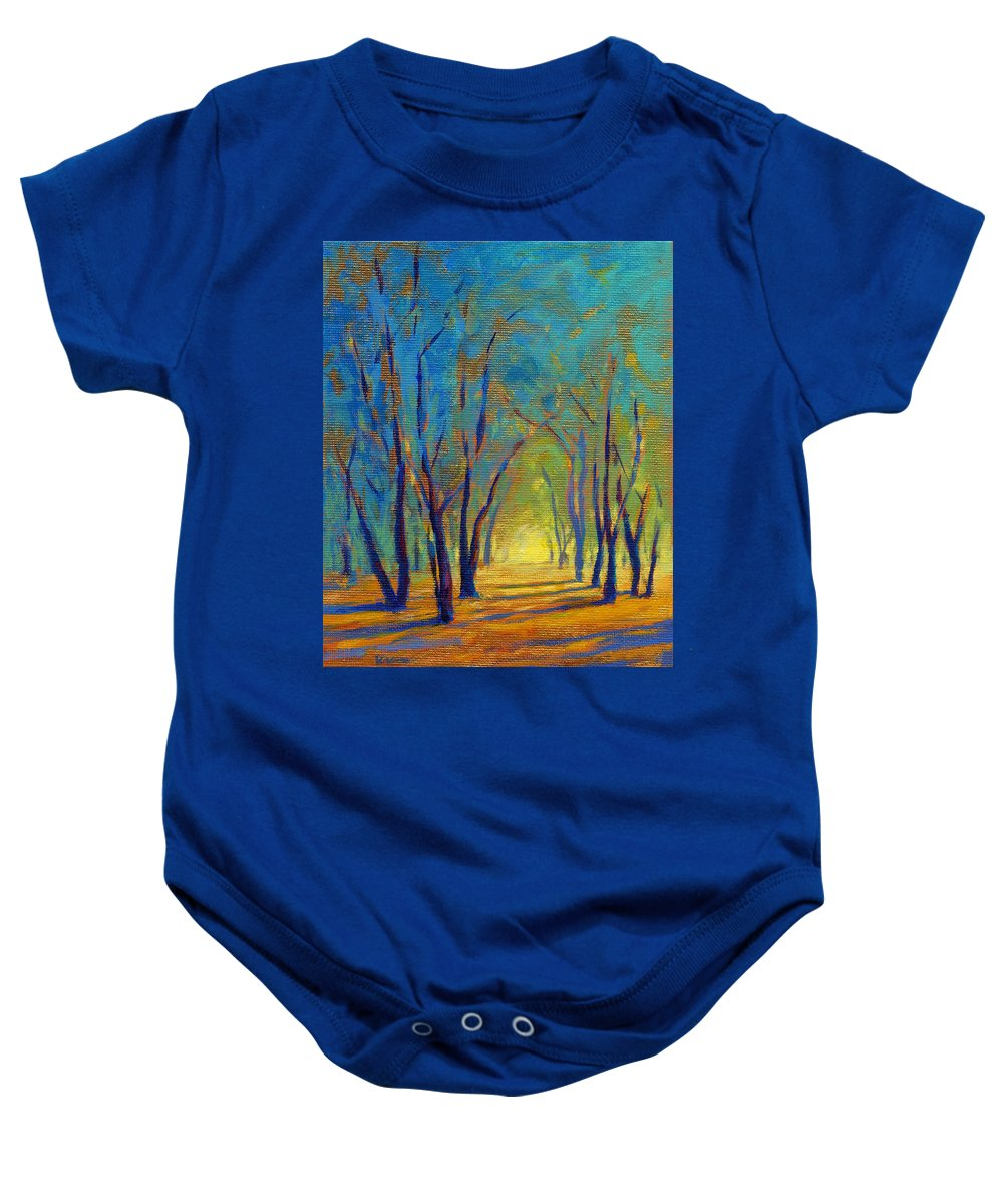 Tree Baby Onesie featuring the painting Colors Of Spring by Konnie Kim