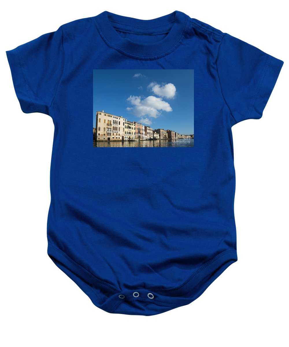 Gran Canal Baby Onesie featuring the photograph Venice - Italy by Mats Silvan