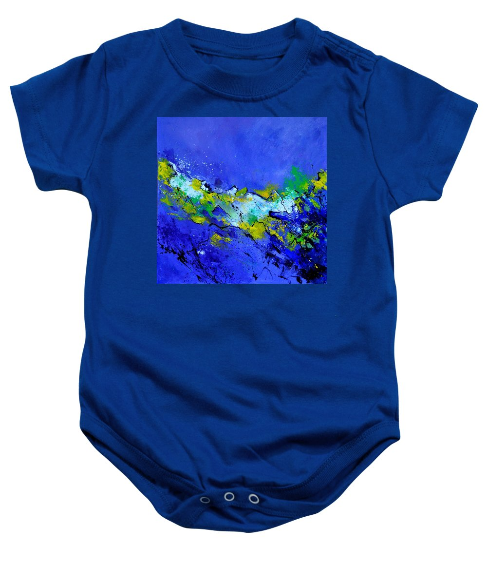 Abstract Baby Onesie featuring the painting Abstract 5531103 by Pol Ledent