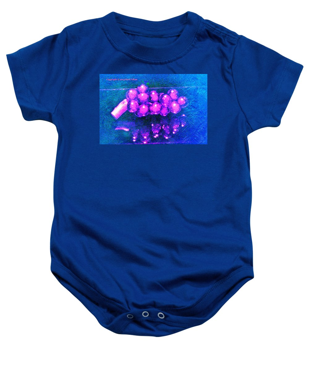 Abstract Baby Onesie featuring the photograph Abstract Grapes by Karl Rose