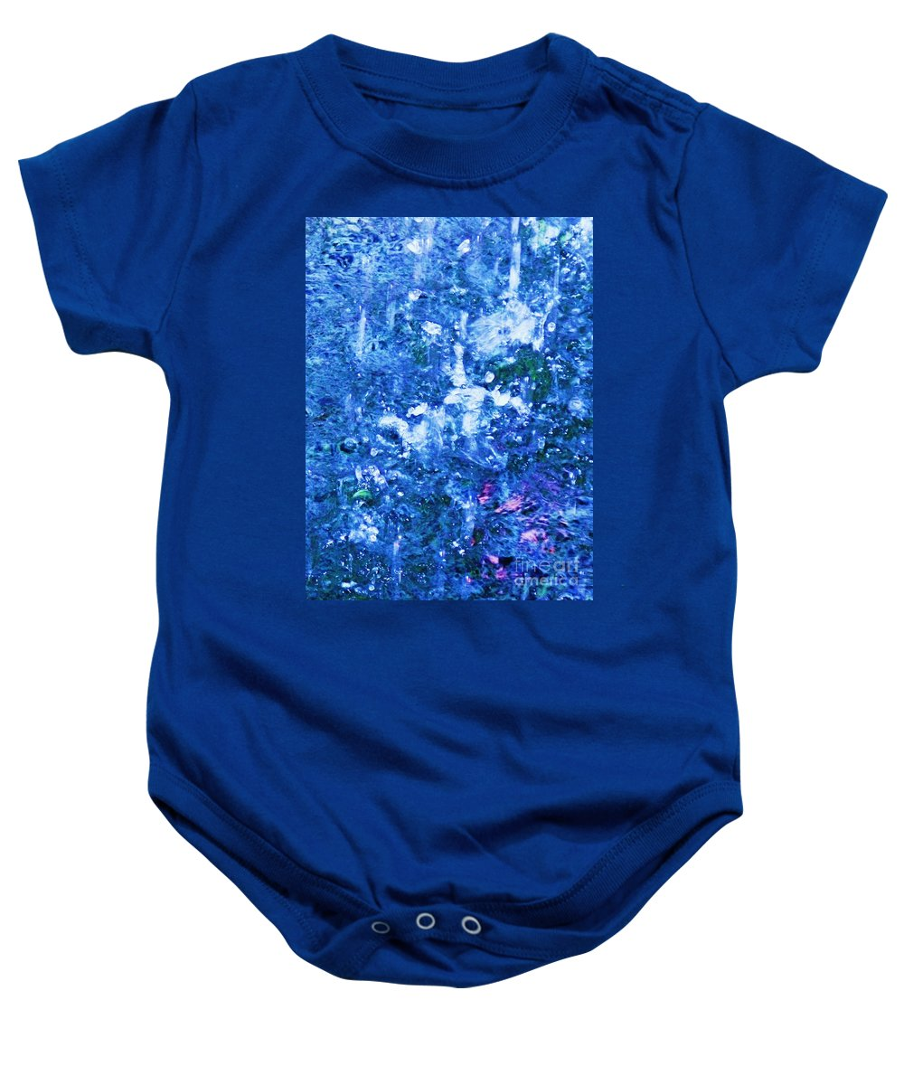 Abstract Baby Onesie featuring the photograph Abstract Splashing Water by Eric Schiabor