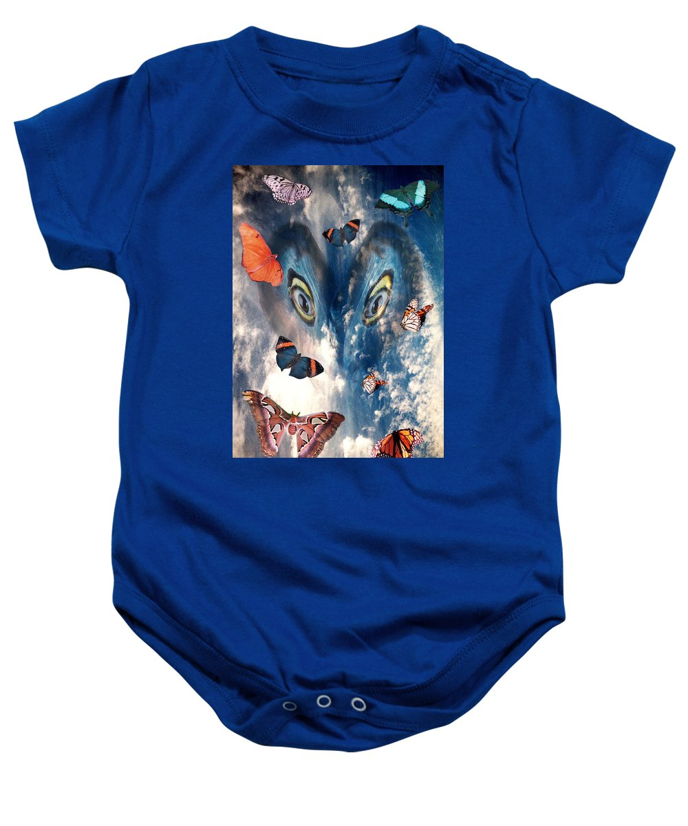 Air Baby Onesie featuring the digital art Air by Lisa Yount