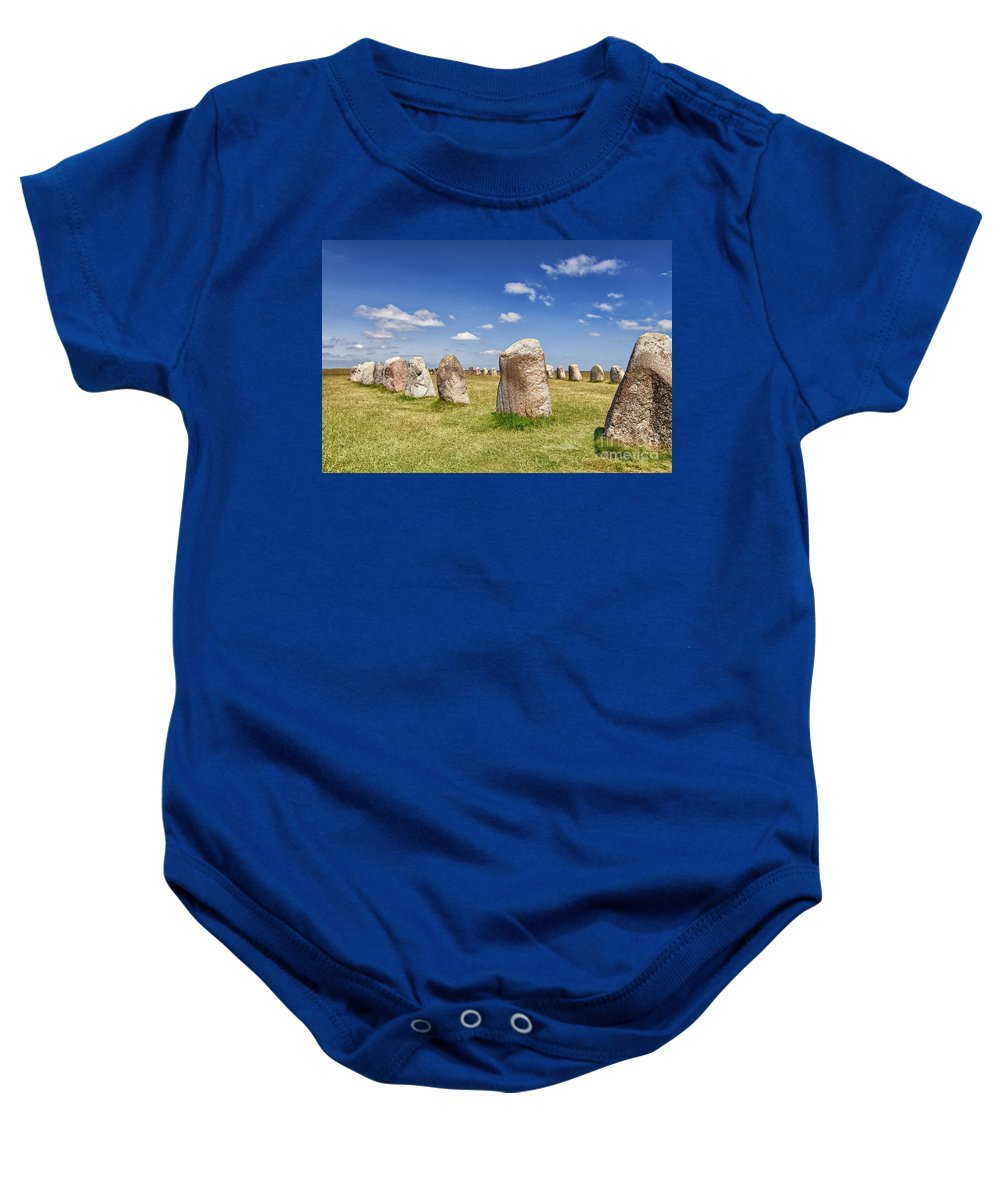 Standing Baby Onesie featuring the photograph Ales Stenar by Sophie McAulay
