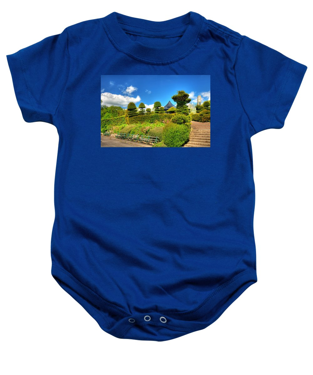 Alexandra Park Penarth Baby Onesie featuring the photograph Alexandra Park Penarth by Steve Purnell