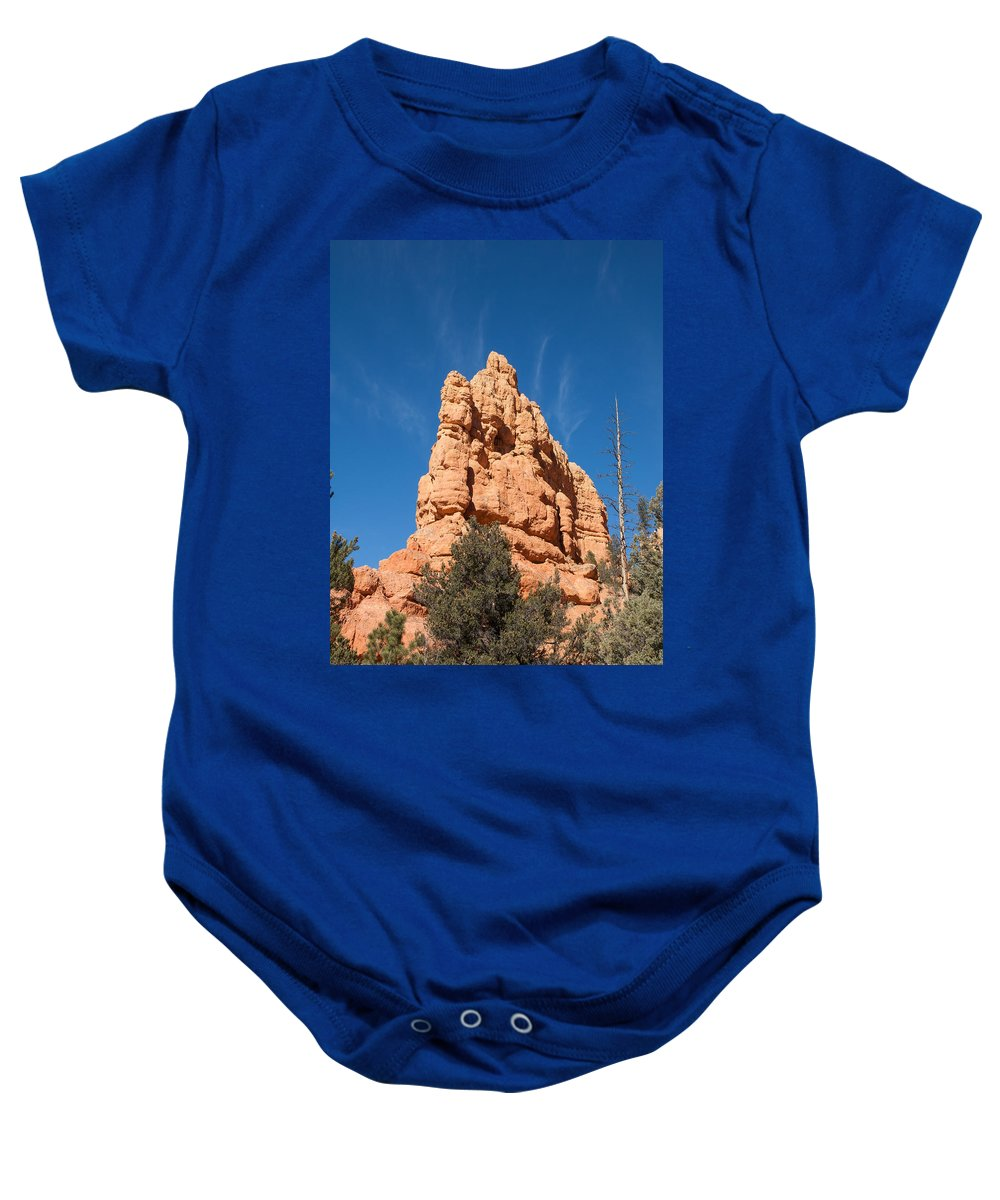 Red Canyon State Park Baby Onesie featuring the photograph Alien Headgear by John M Bailey