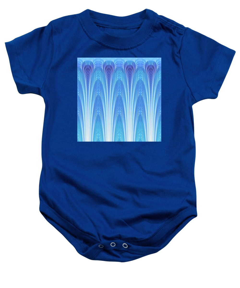 Fractal Baby Onesie featuring the digital art Along The Blue Nile by Lyle Hatch