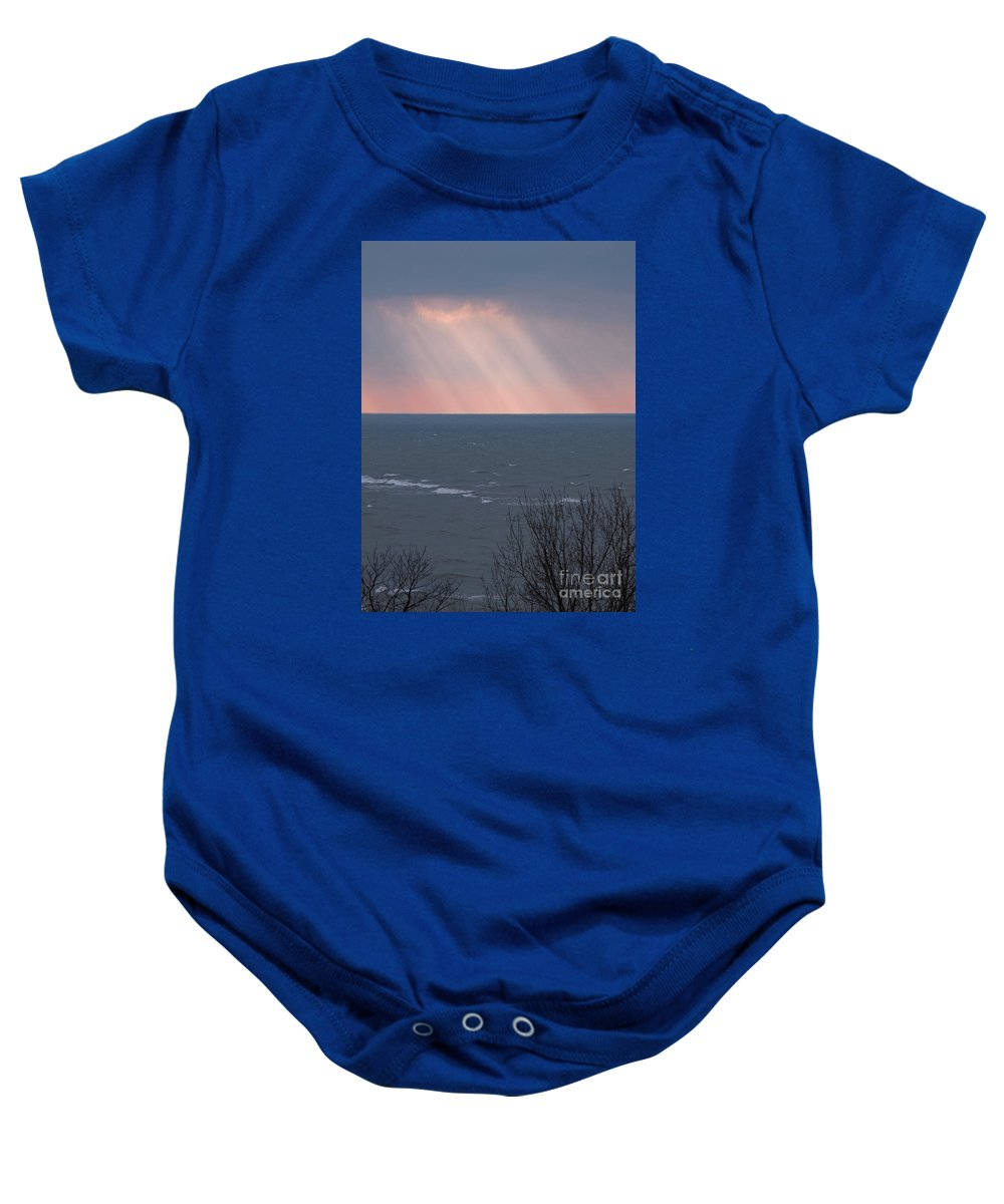 Light Baby Onesie featuring the photograph And It Was Good by Ann Horn