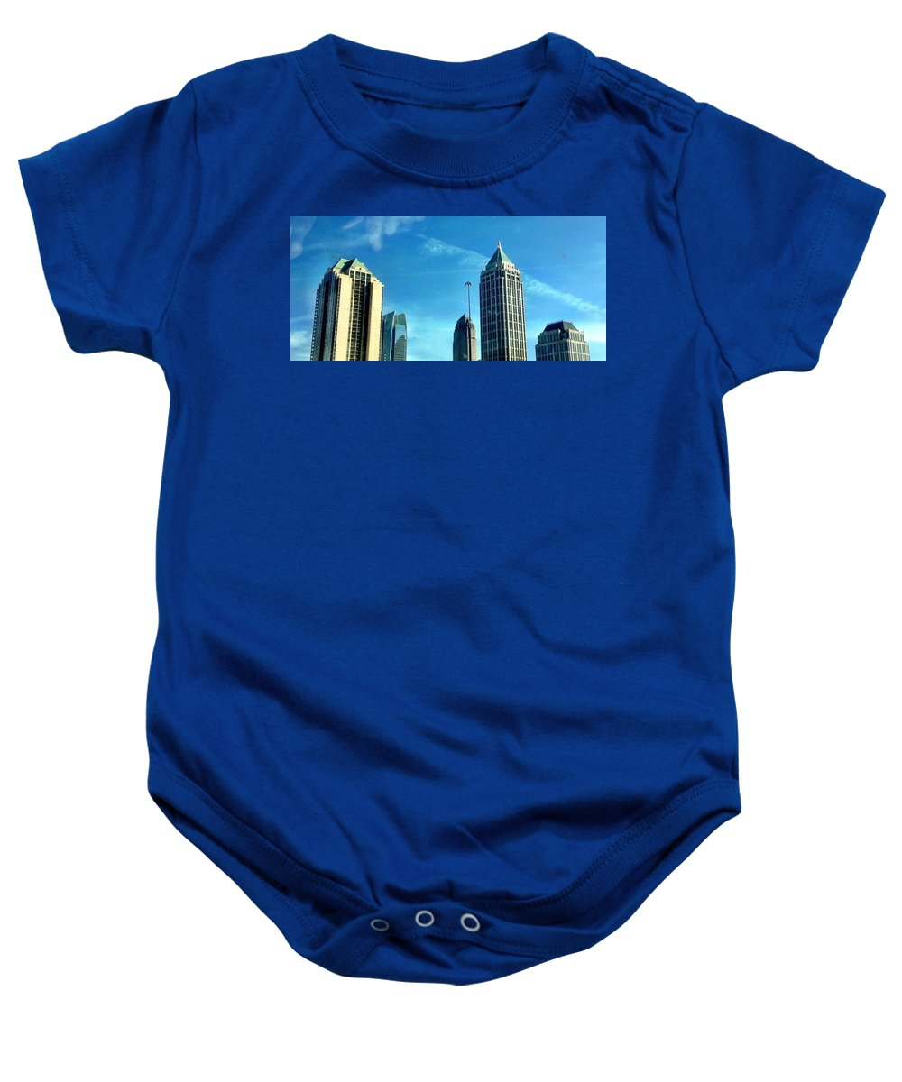 Atlanta Baby Onesie featuring the photograph Atlanta Skyline by Michele Monk