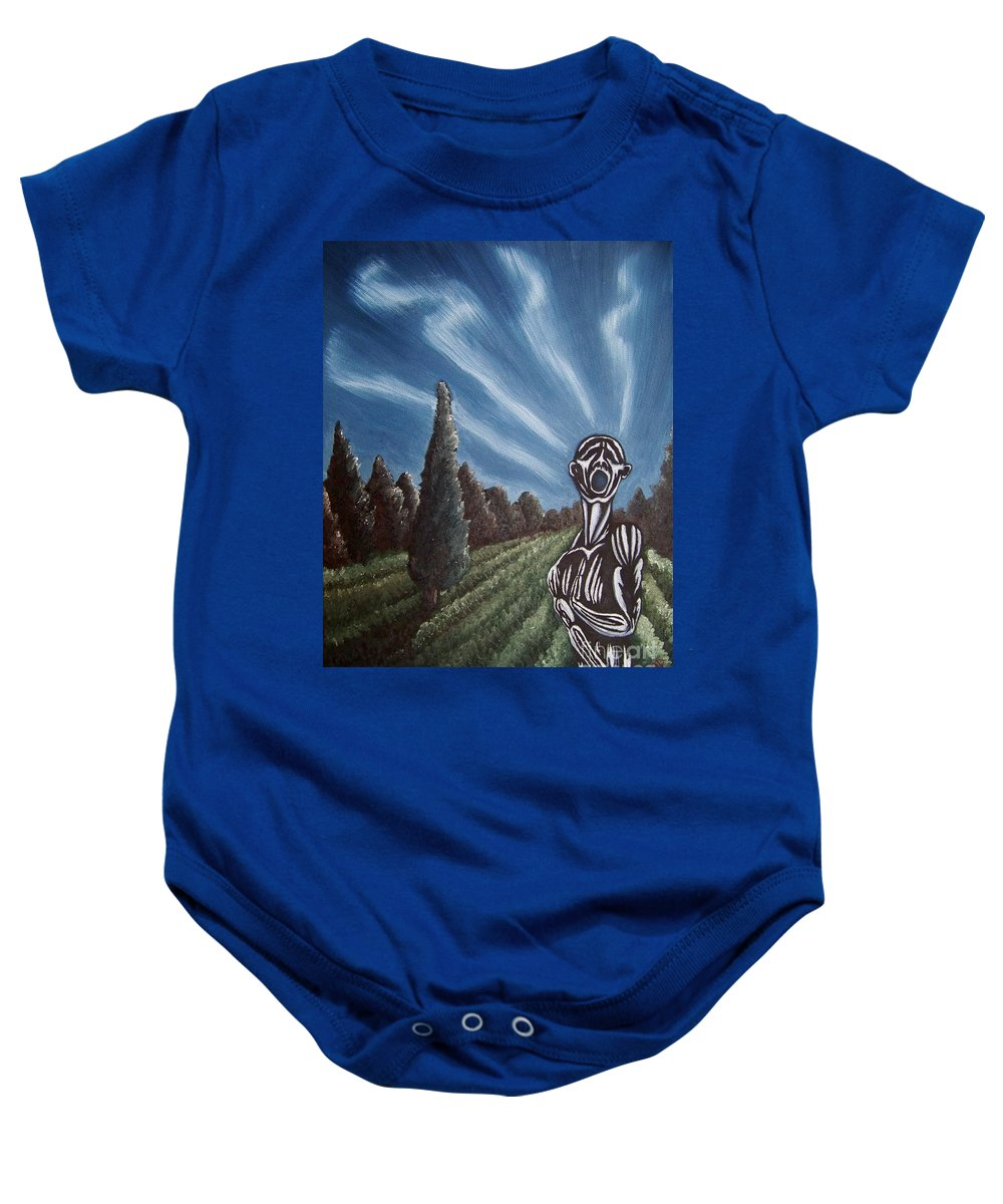 Tmad Baby Onesie featuring the painting Aurora by Michael TMAD Finney