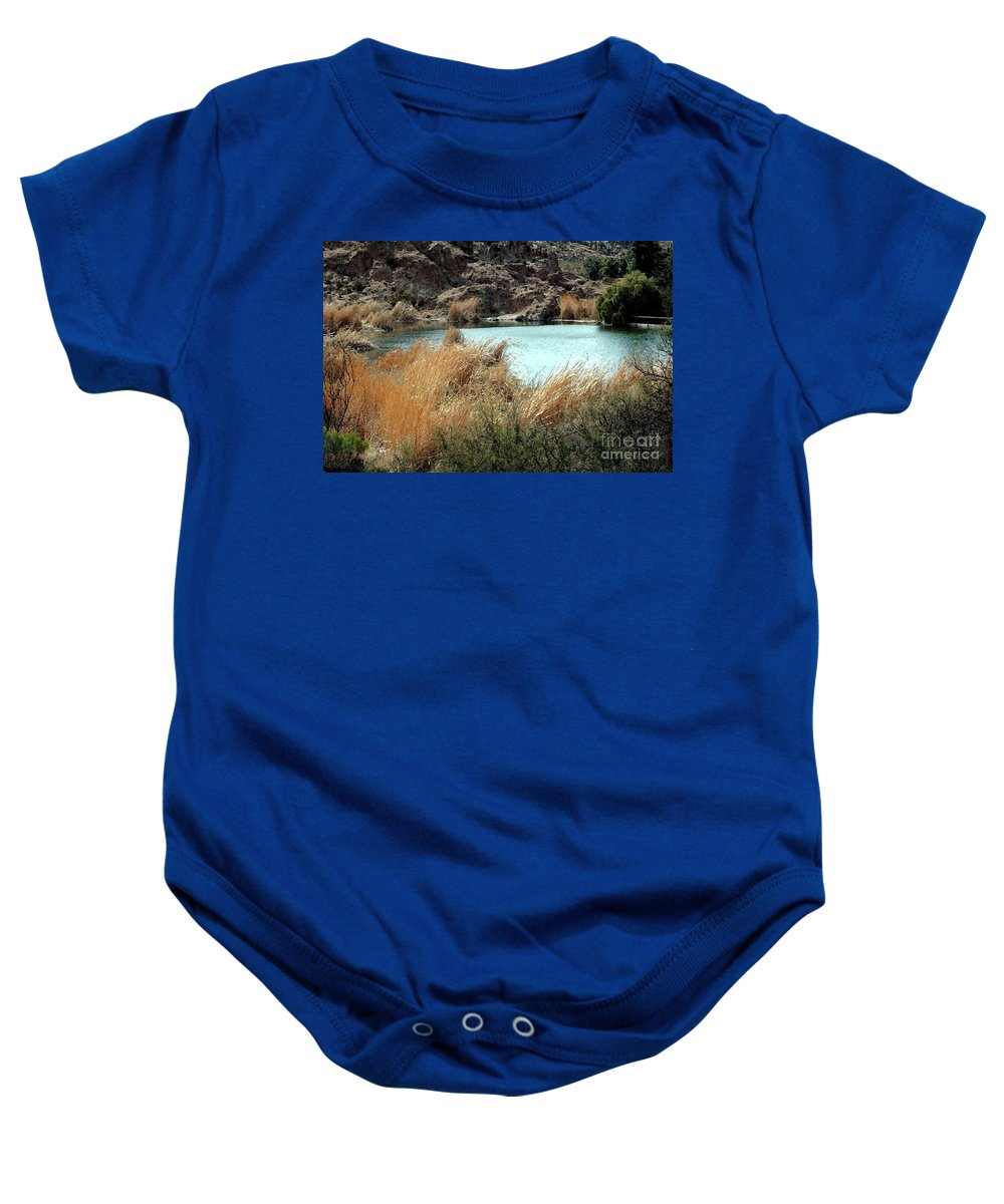 Ayer Baby Onesie featuring the photograph Ayer Lake by Kathleen Struckle