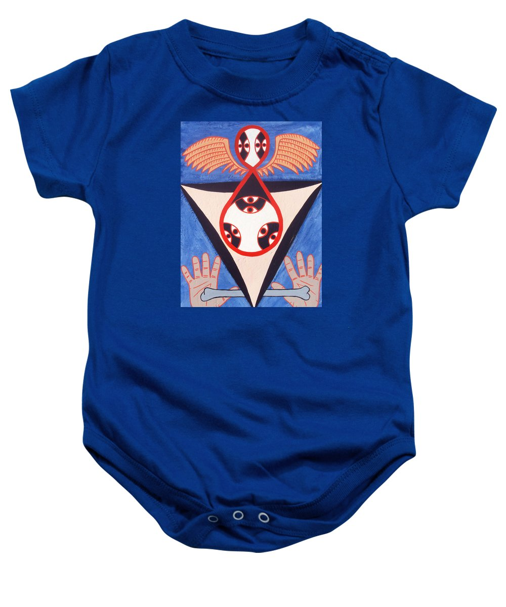 Balance Baby Onesie featuring the painting Balance by Shawn Jones