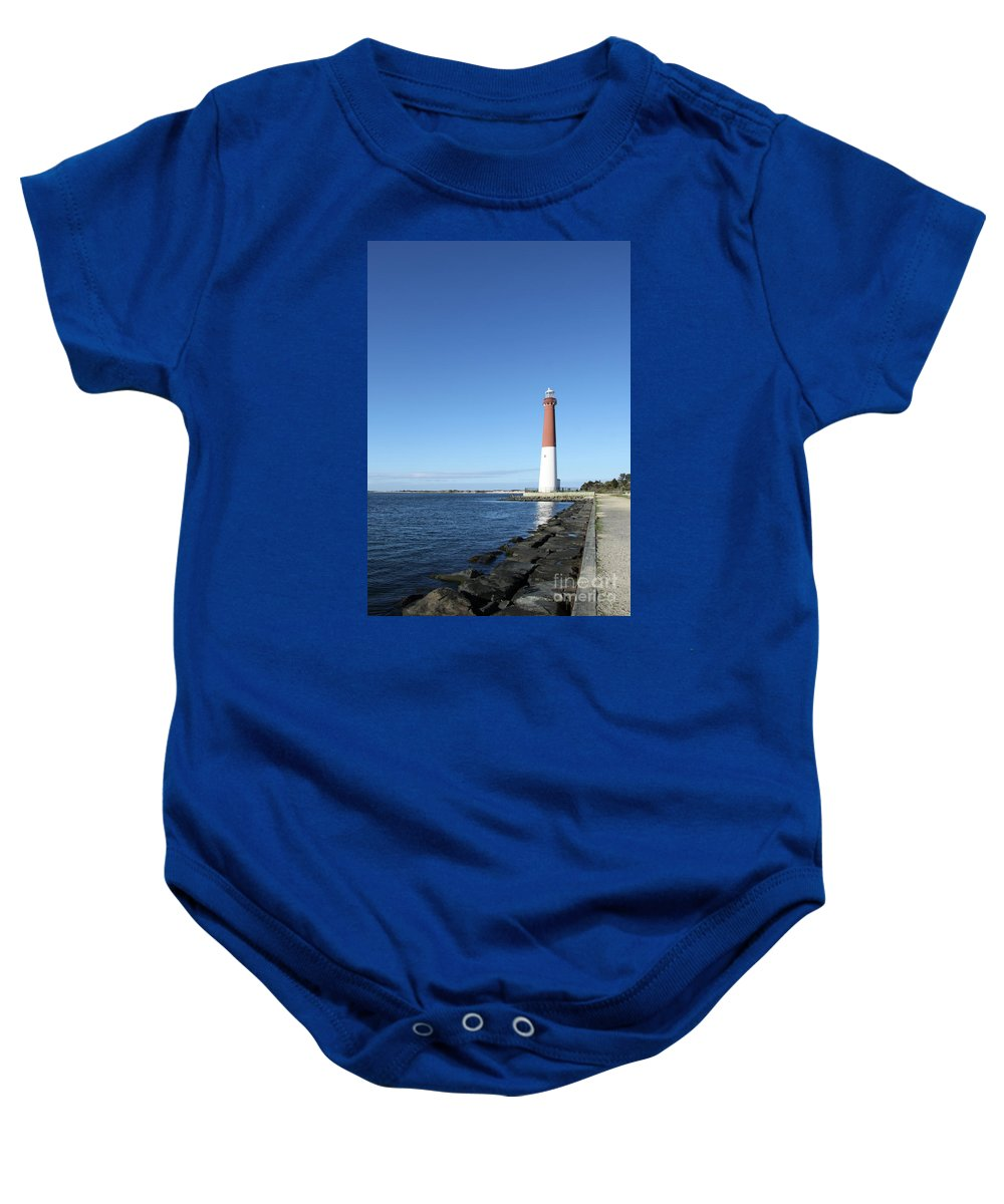 Barnegat Baby Onesie featuring the photograph Barnegat Light - New Jersey by Christiane Schulze Art And Photography
