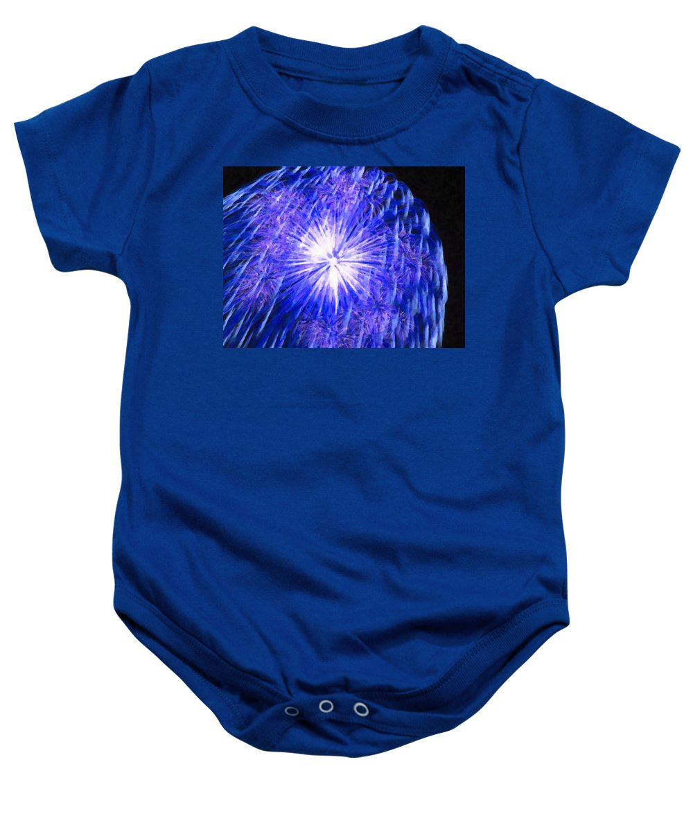 Beautiful Fireworks Baby Onesie featuring the painting Beautiful Fireworks 11 by Jeelan Clark