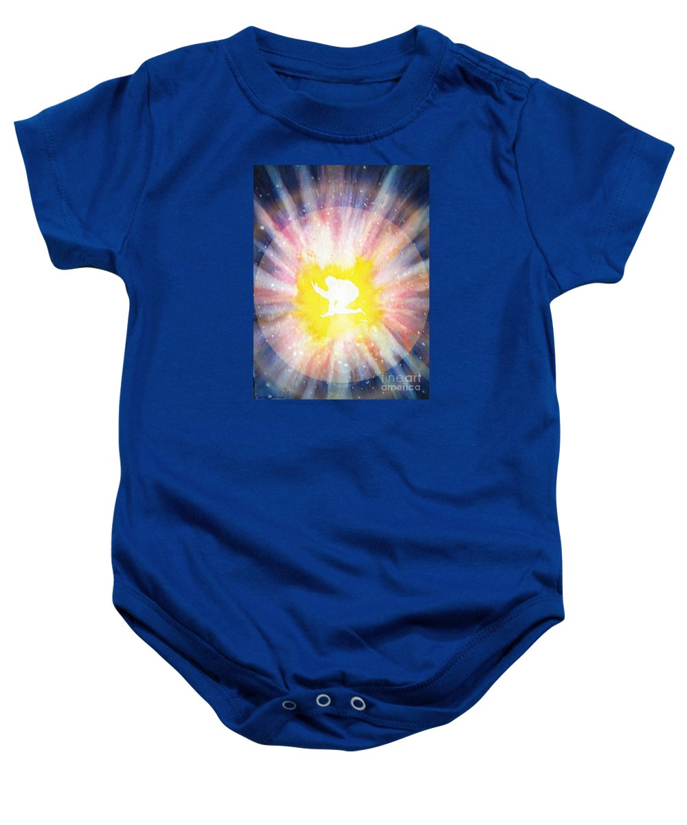 Soul Baby Onesie featuring the painting Rebirth by Leanne Seymour