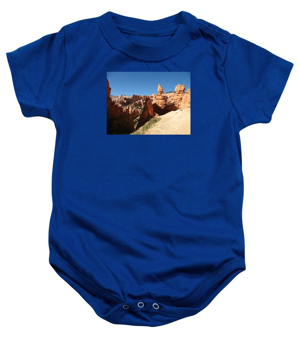 Canyon Baby Onesie featuring the photograph Bizarre Shapes - Bryce Canyon by Christiane Schulze Art And Photography