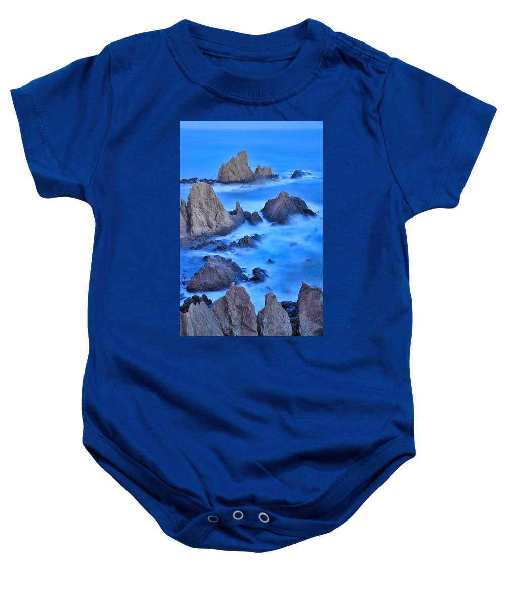 Seascape Baby Onesie featuring the photograph Blue Sunset At The Mermaid Reef by Guido Montanes Castillo