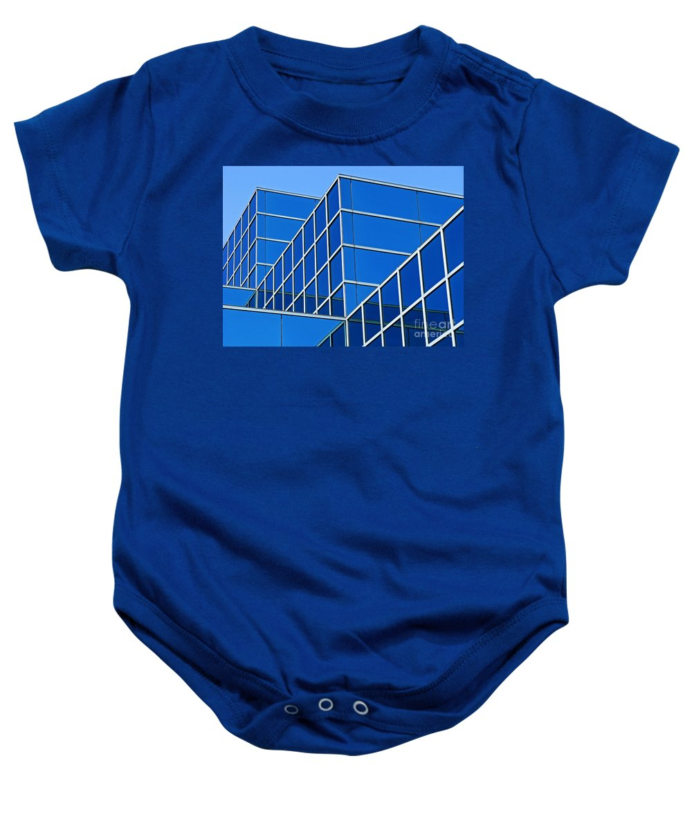 Building Baby Onesie featuring the photograph Boldly Blue by Ann Horn