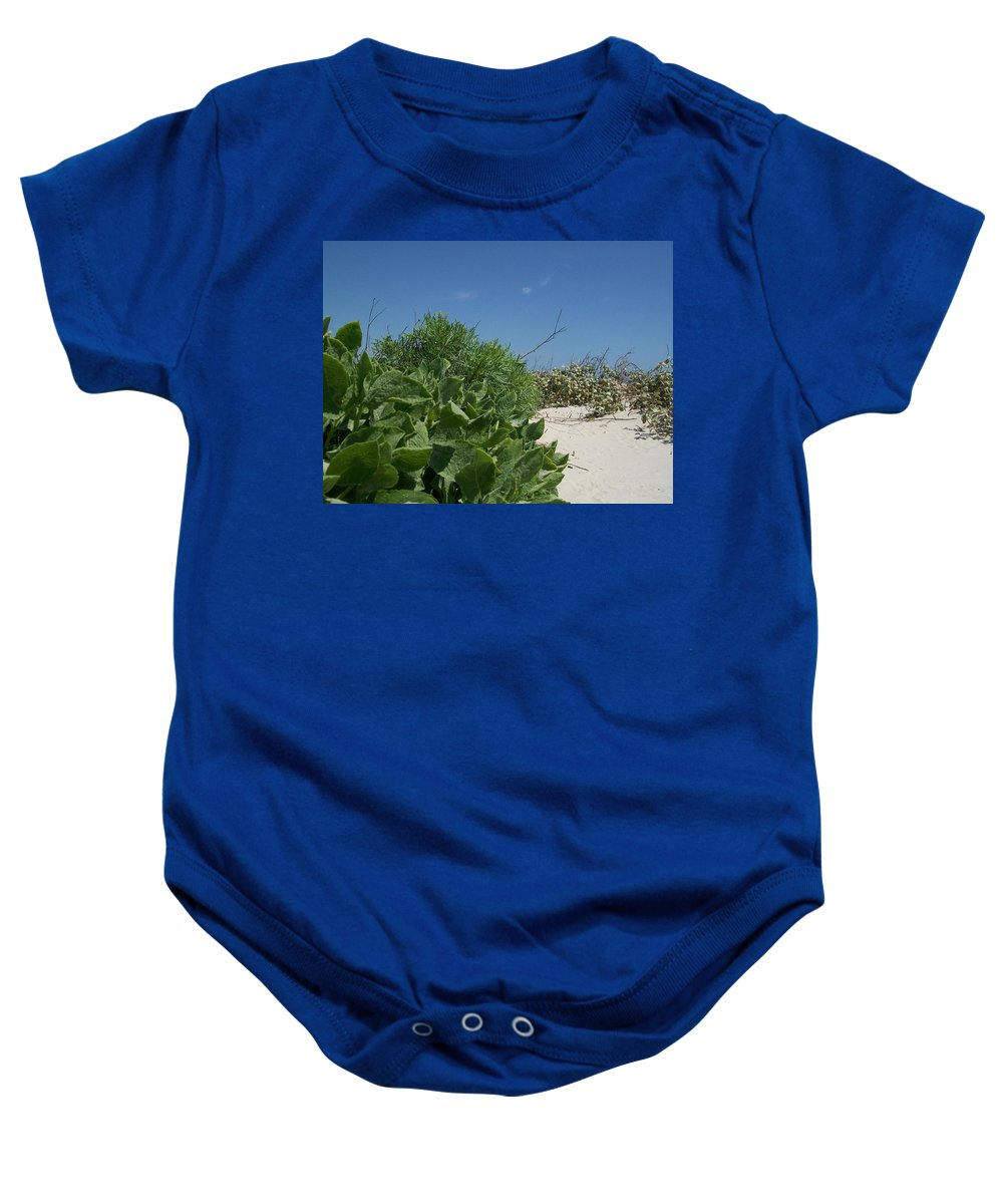 Laurette Escobar Baby Onesie featuring the painting Buttercup Pick Me Up by Laurette Escobar