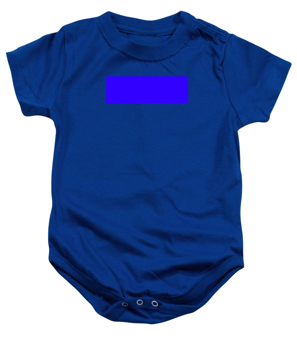 Abstract Baby Onesie featuring the digital art C.1.50-0-255.3x1 by Gareth Lewis