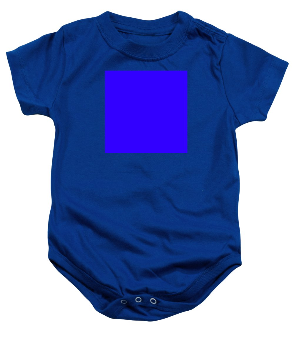 Abstract Baby Onesie featuring the digital art C.1.50-0-255.7x7 by Gareth Lewis