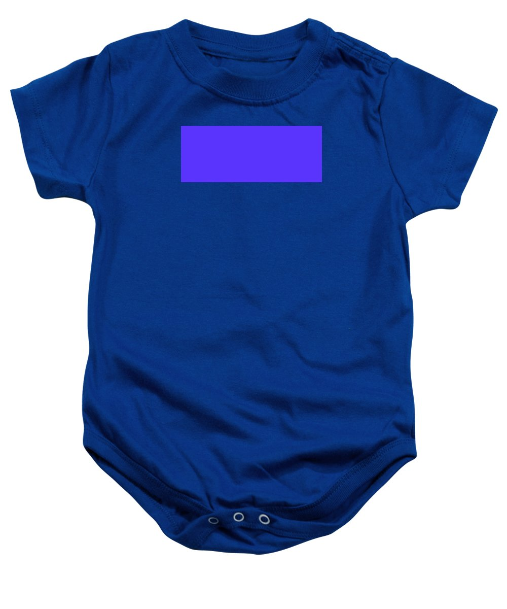 Abstract Baby Onesie featuring the digital art C.1.91-51-255.5x2 by Gareth Lewis