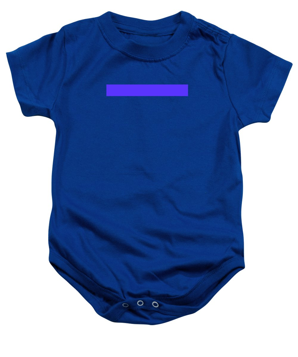 Abstract Baby Onesie featuring the digital art C.1.91-51-255.7x1 by Gareth Lewis