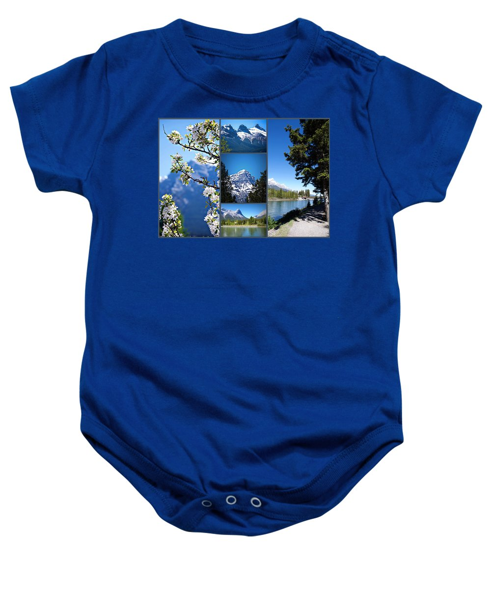 Canmore Baby Onesie featuring the photograph Canmore Alberta by Lisa Knechtel