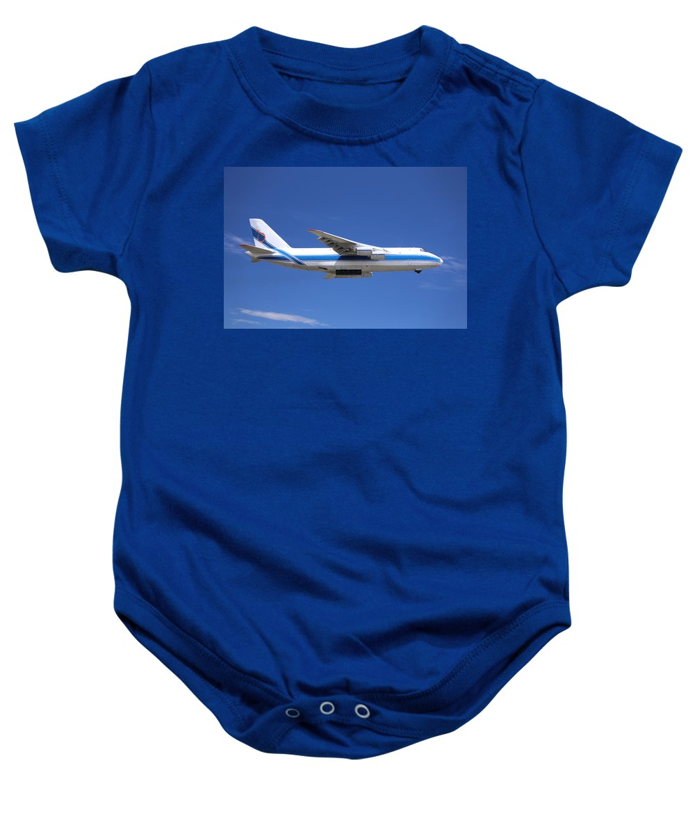 Antonov Baby Onesie featuring the photograph Cargo Plane by Paul Fell