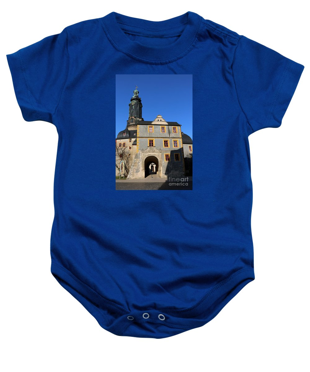 Castle Baby Onesie featuring the photograph Castle Church Weimar by Christiane Schulze Art And Photography