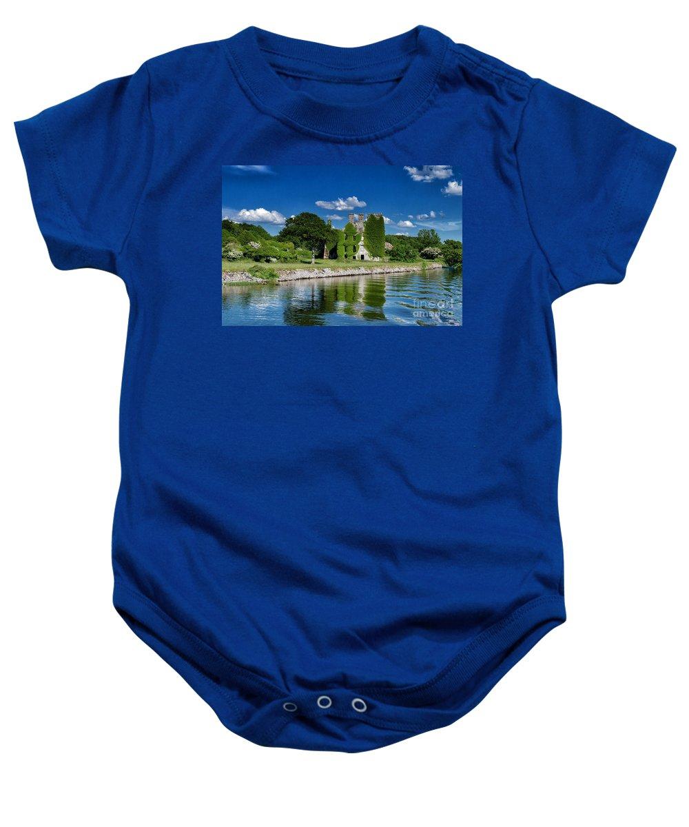 Irland Baby Onesie featuring the photograph Castle Menlo by Juergen Klust