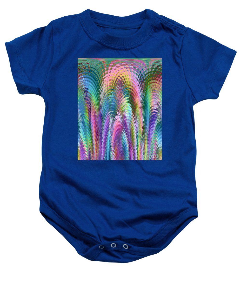 Colors Baby Onesie featuring the digital art Cathedral by Mariarosa Rockefeller