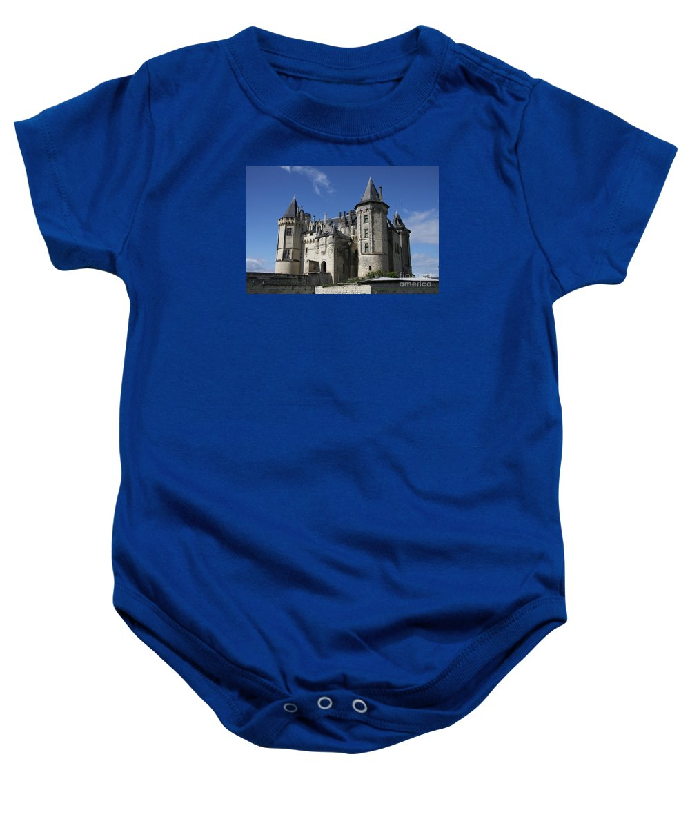 Castle Baby Onesie featuring the photograph Chateau De Saumur by Christiane Schulze Art And Photography