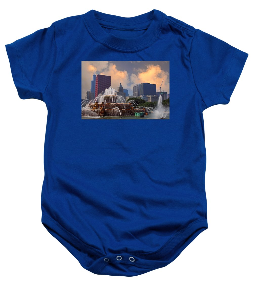 Chicago Baby Onesie featuring the photograph Chicago...my Kind Of Town by Lynn Bauer