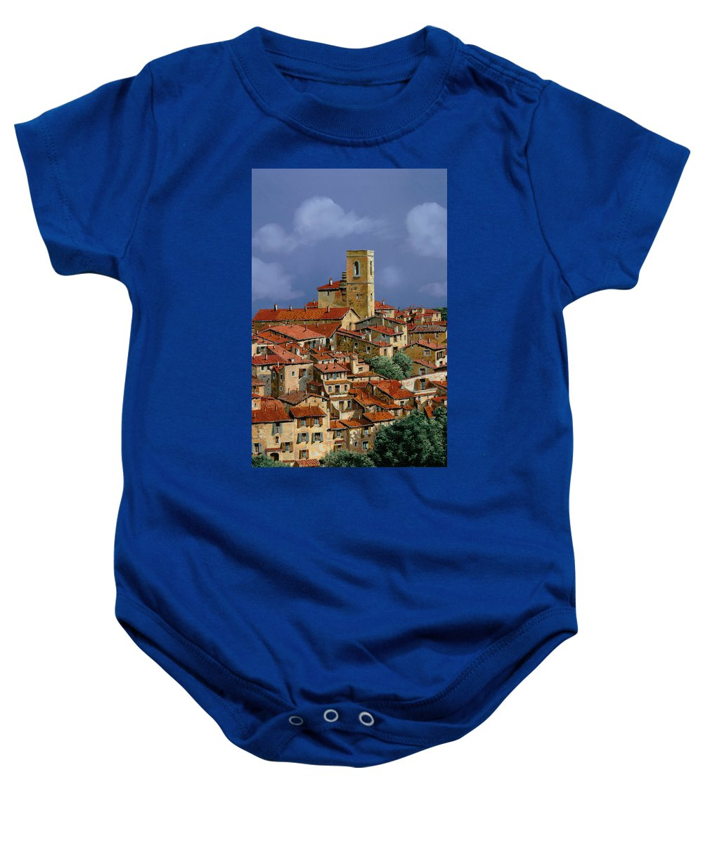 Clouds Baby Onesie featuring the painting Cielo A Pecorelle by Guido Borelli