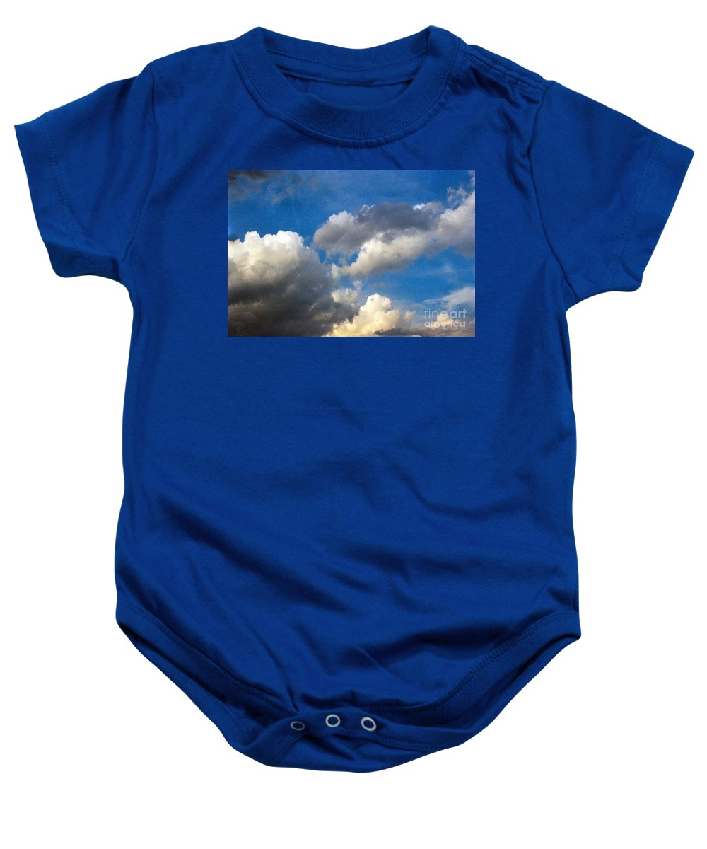 Cloud Baby Onesie featuring the photograph Clouds Of Today by Anita Lewis