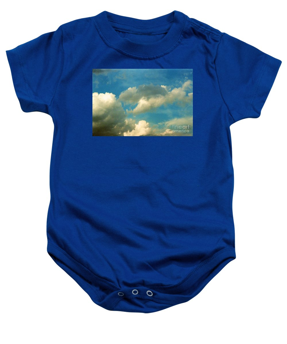 Comfortable Baby Onesie featuring the photograph Clouds Of Tomorrow by Anita Lewis
