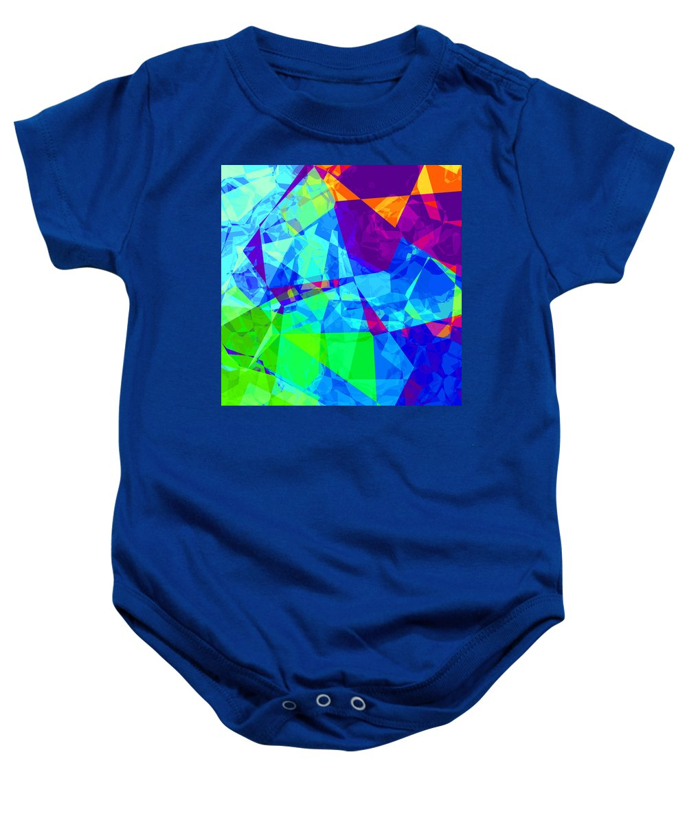 Abstract Baby Onesie featuring the digital art Colorful Chaos by David G Paul