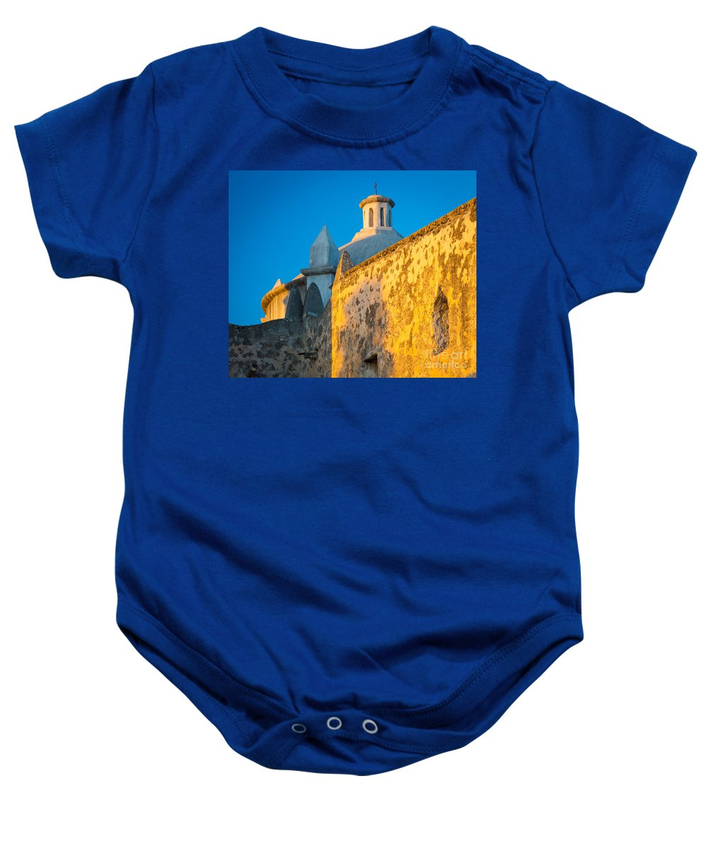 America Baby Onesie featuring the photograph Concepcion Walls by Inge Johnsson