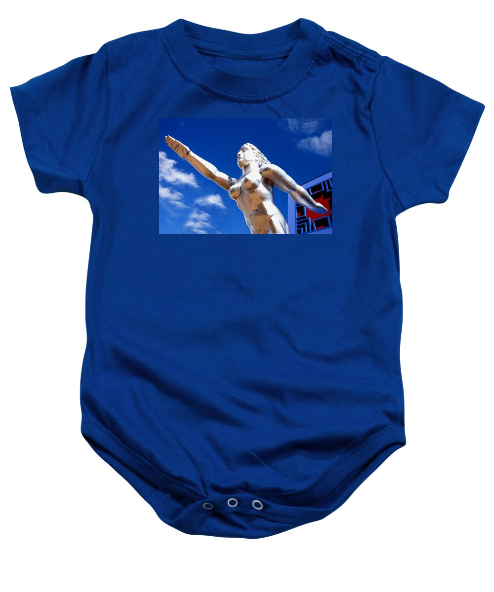 Runner Baby Onesie featuring the photograph Contralto 11 by Charlie Brock