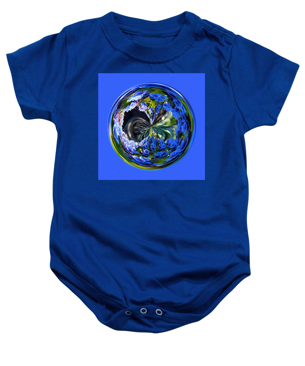 Orb Baby Onesie featuring the photograph Delicate Orb by Brent Dolliver