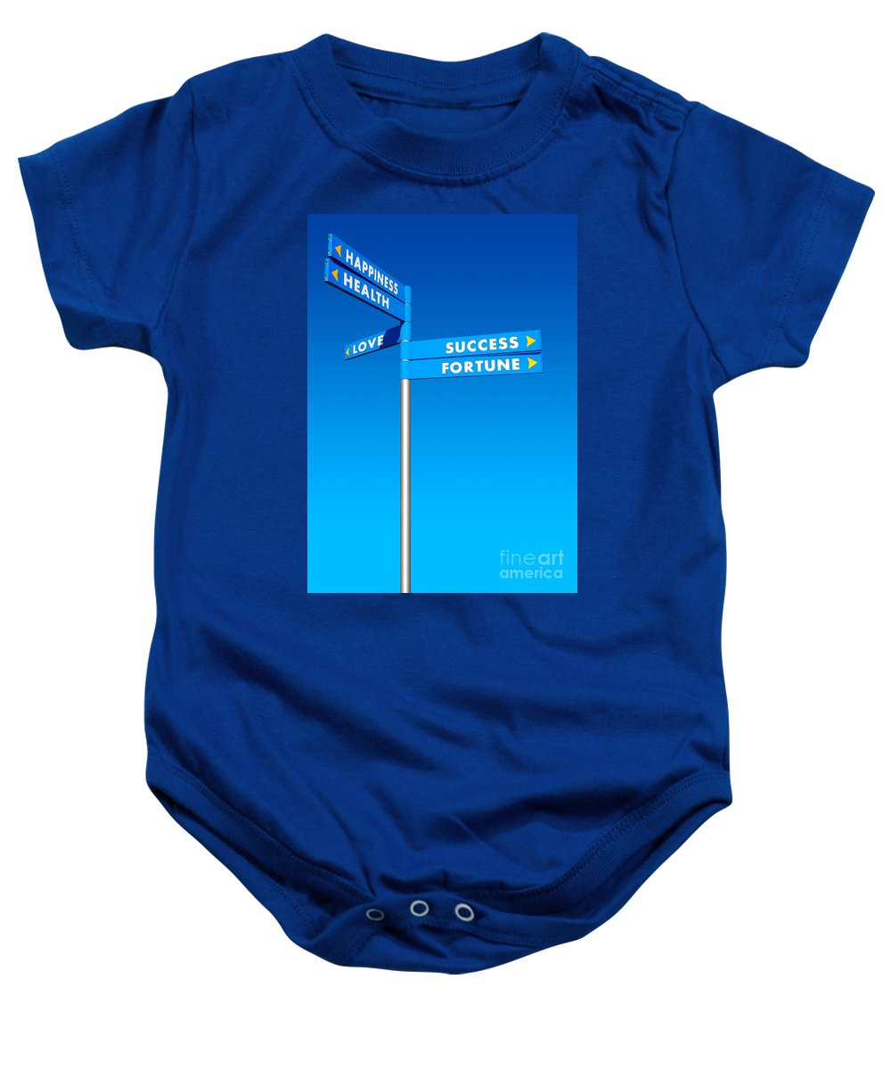 Choices Baby Onesie featuring the photograph Directions To Goals by Carlos Caetano
