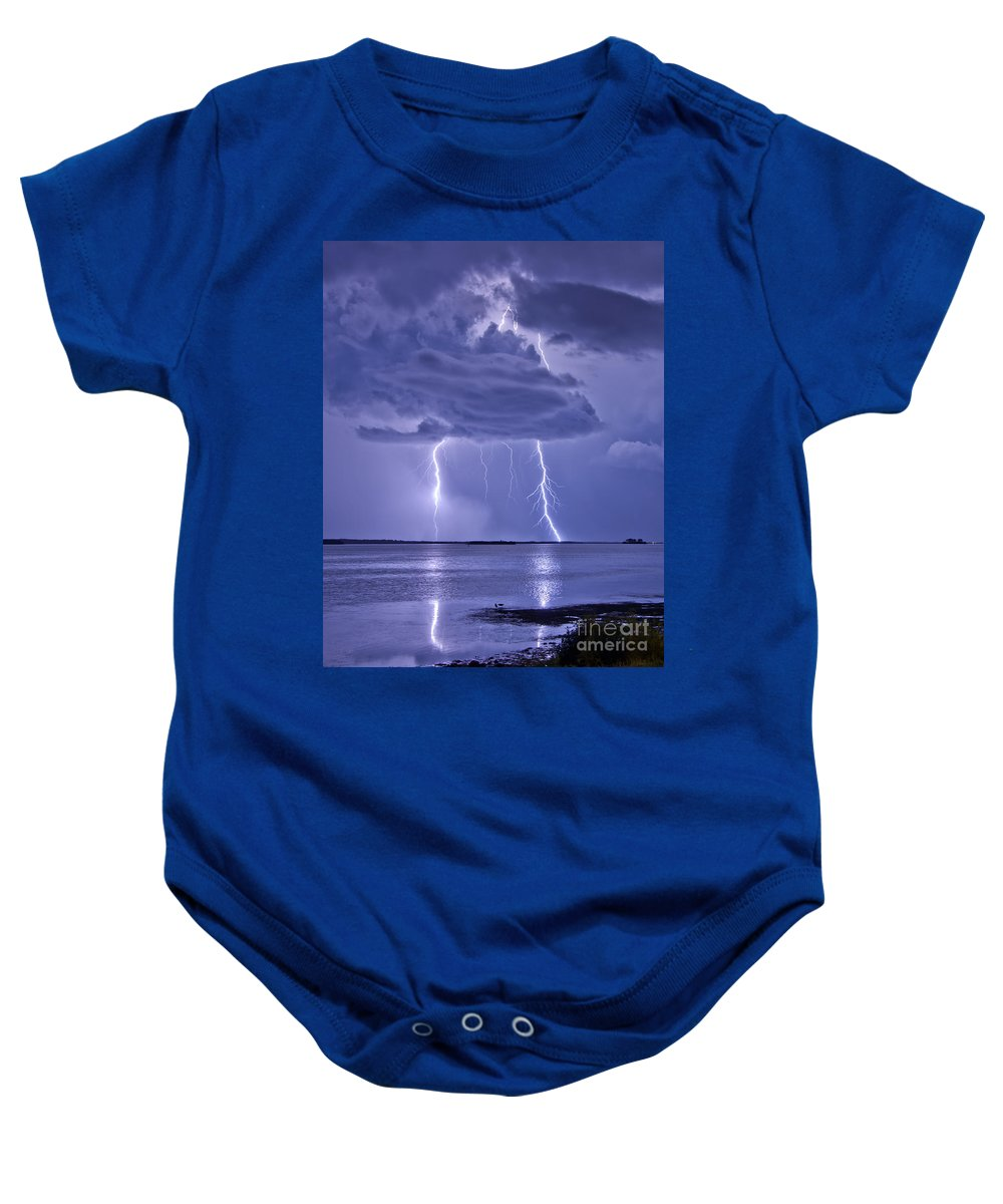 Florida Baby Onesie featuring the photograph Double Reflection by Stephen Whalen