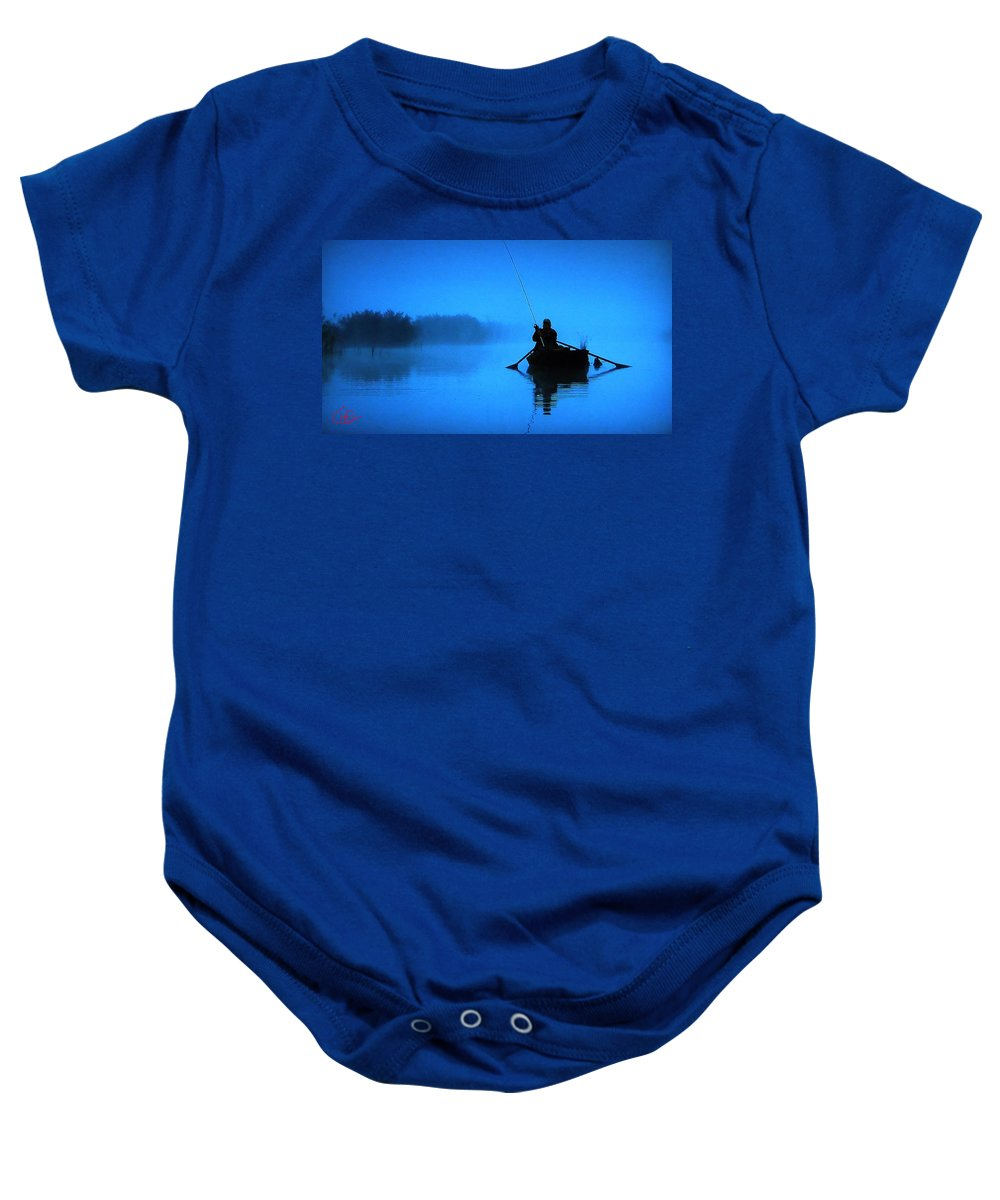 Colette Baby Onesie featuring the photograph Early Morning Fishing by Colette V Hera Guggenheim