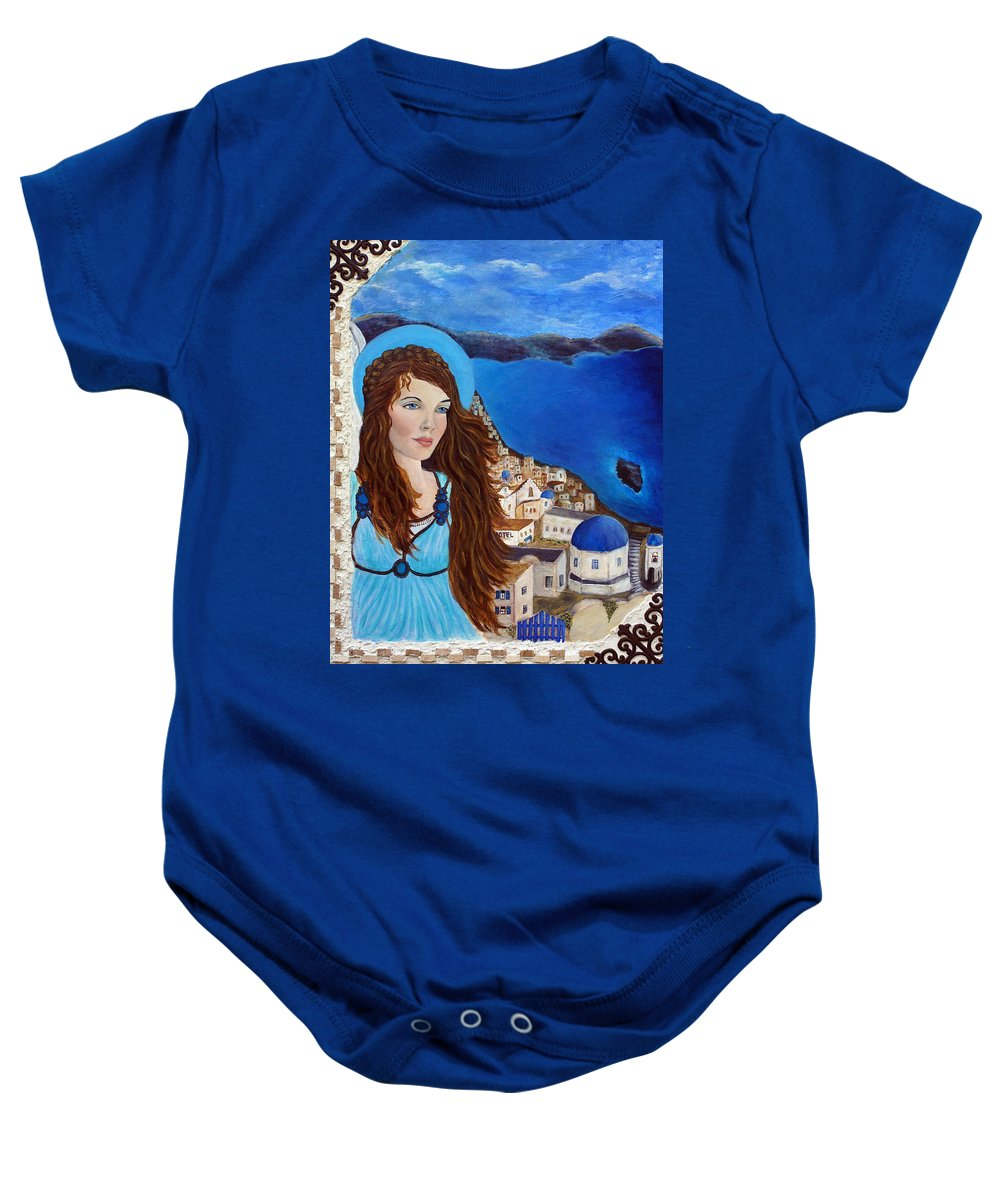 Angel Baby Onesie featuring the painting Earthangel Athena by The Art With A Heart By Charlotte Phillips