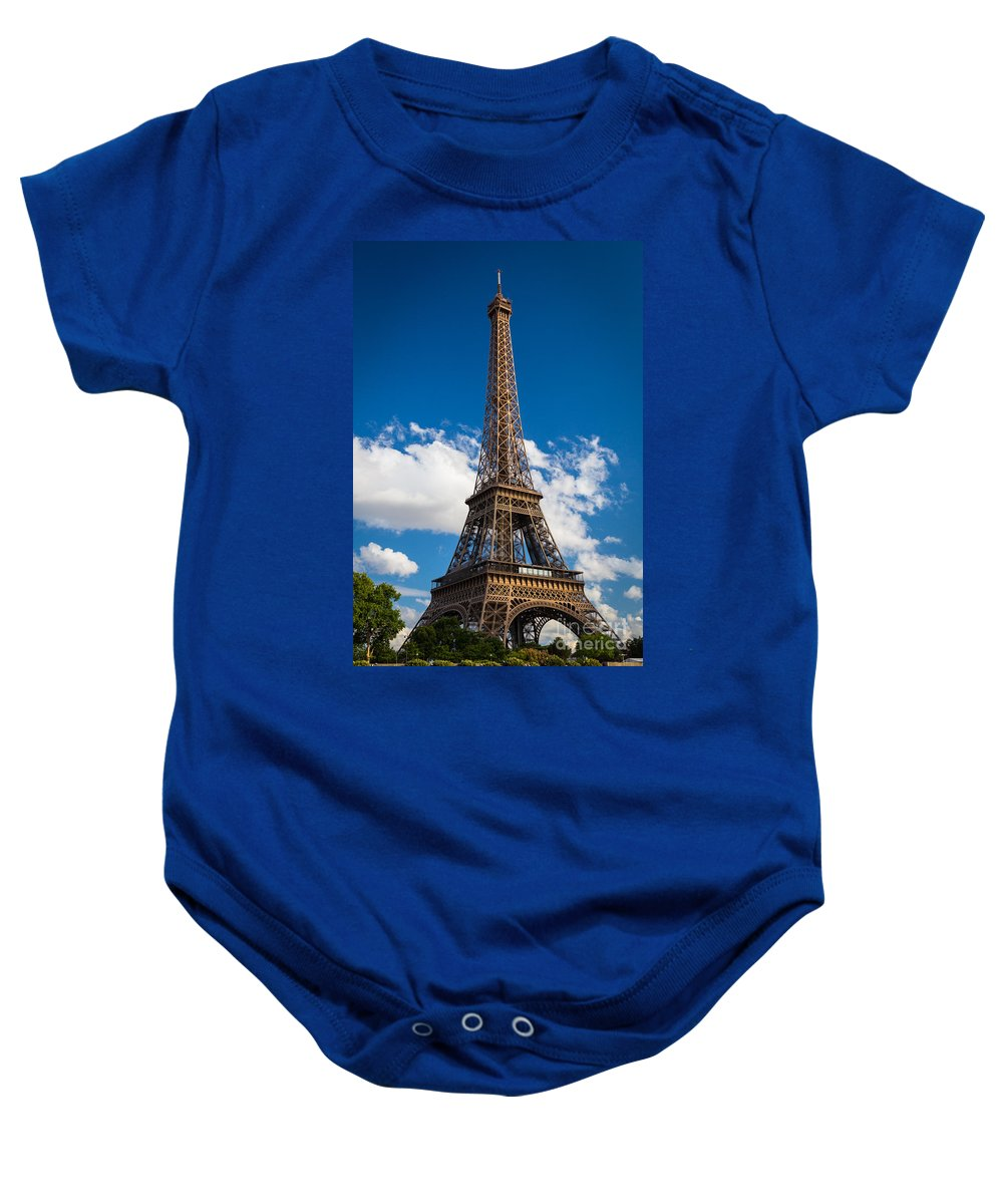 Eiffel Baby Onesie featuring the photograph Eiffel Tower by Inge Johnsson