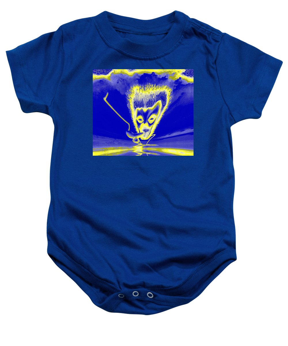 Genio Baby Onesie featuring the mixed media Enlightened Communication by Genio GgXpress