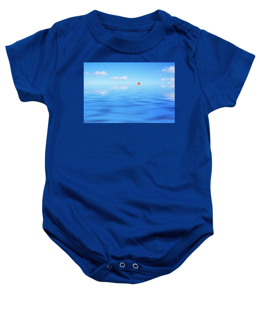 Boat Baby Onesie featuring the photograph Enternal Journey by P Donovan