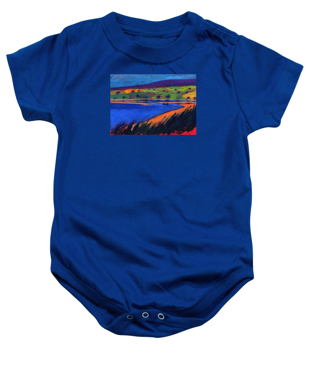 Fishing Boat Baby Onesie featuring the photograph Estuary by Paul Powis
